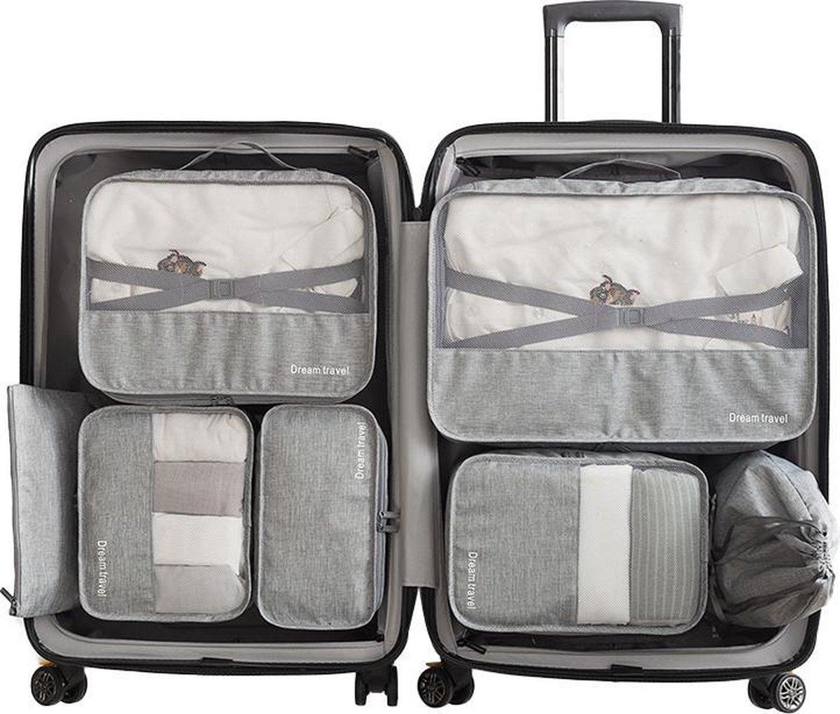 Luxe Packing Cubes set - Uitgebreide 7 delige set - Kleding organizer voor koffer en backpack - Baga