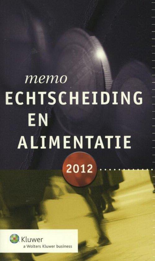 Memo echtscheiding en alimentatie / 2012