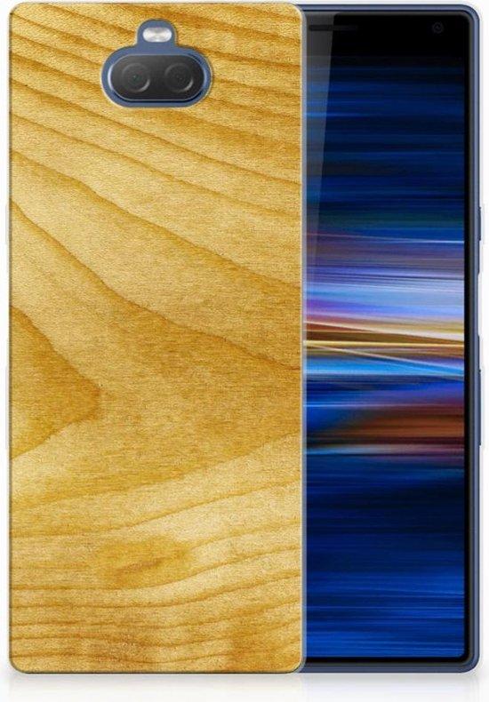 Sony Xperia 10 Plus Uniek TPU Hoesje Licht Hout