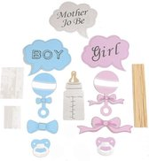 Baby shower Boy or Girl -  Photobooth Prop set