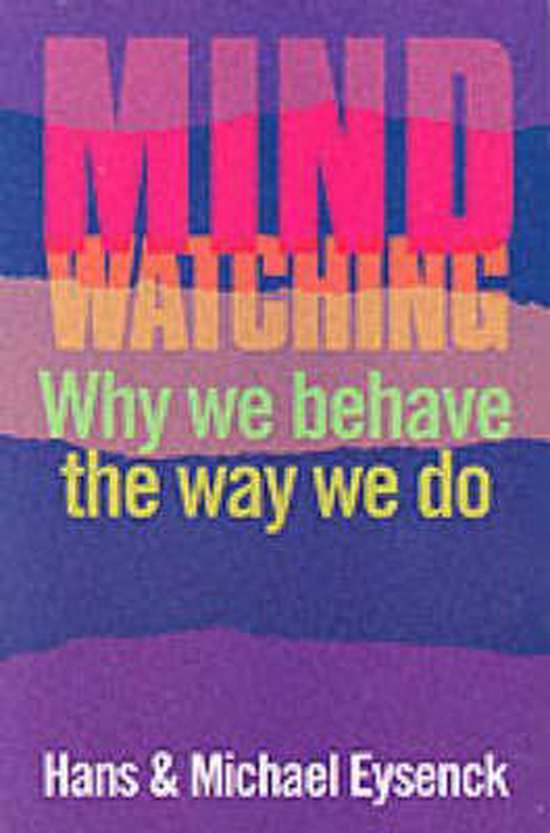 Boek cover Mindwatching van H. J. Eysenck (Paperback)