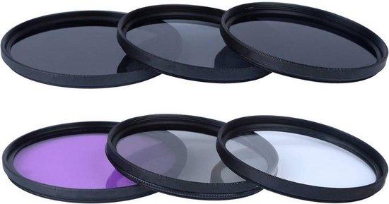 Filter kit 58 mm lens - fotografie - fotocamera filterset - 58mmUV FLD ND2 ND4 ND8 voor Canon Rebel T4i T3i T3 T2i T1i XS XSi 18-58mm - Nikon - Sony - Voor nog betere foto's - DisQounts