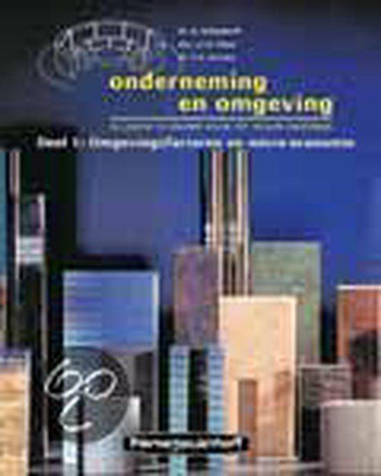 Boek cover Leerlingenboek Onderneming en omgeving 1 Omgevingsfactoren en micro-economie van R. Schondorff (Hardcover)