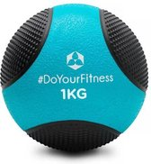 #DoYourFitness - Medicine bal - »Medicus« - fitnessbal / gewichtsbal - in meerdere gewichtsklassen verkrijgbaar - 1kg / lichtblauw