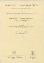 Justiz und NS-Verbrechen / Vorlaufiges Verfahrensregister