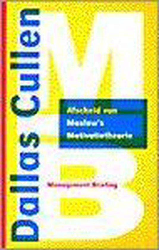 Afscheid van Maslow's motivatietheorie - Dallas Cullen pdf epub