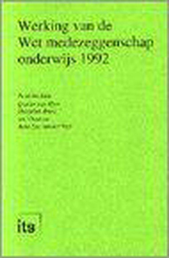 Werking van de Wet medezeggenschap onderwijs 1992 - none | Fthsonline.com