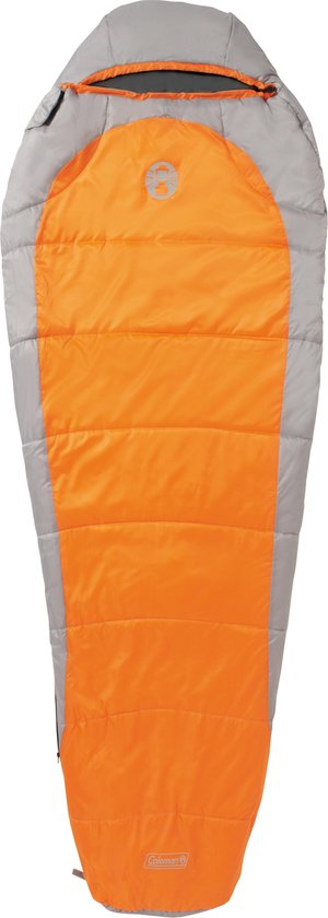 Coleman Silverton Comfort 150 Mummy Slaapzak - 223 x 81 x 55 cm - Oranje/grijs