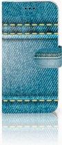 Samsung Galaxy J3 2017 Uniek Telefoonhoesje Met Spijkerbroekprint