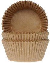 Cupcake Cups (Vormpjes) Kraft 50x33mm - 50st. - House of Marie