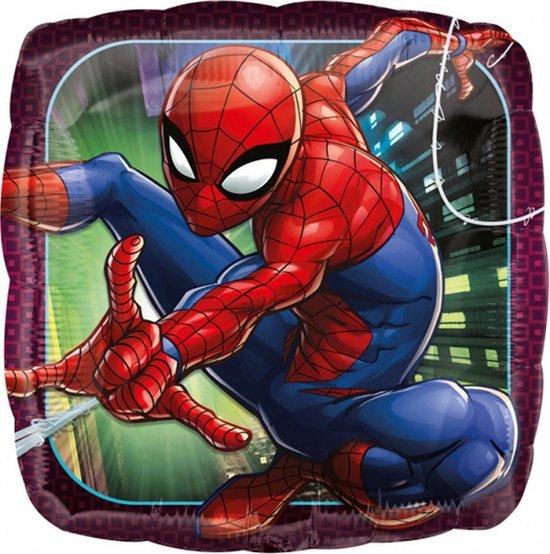 Spiderman Helium Ballon Vierkant 43cm leeg