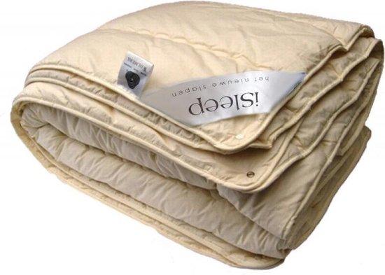 iSleep Wol 4-Seizoenen Dekbed - 100% Wol - Eenpersoons - 140x200 cm