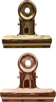 LPC Papierklem Bulldog clip - koper goud - 51 mm -20 stuks