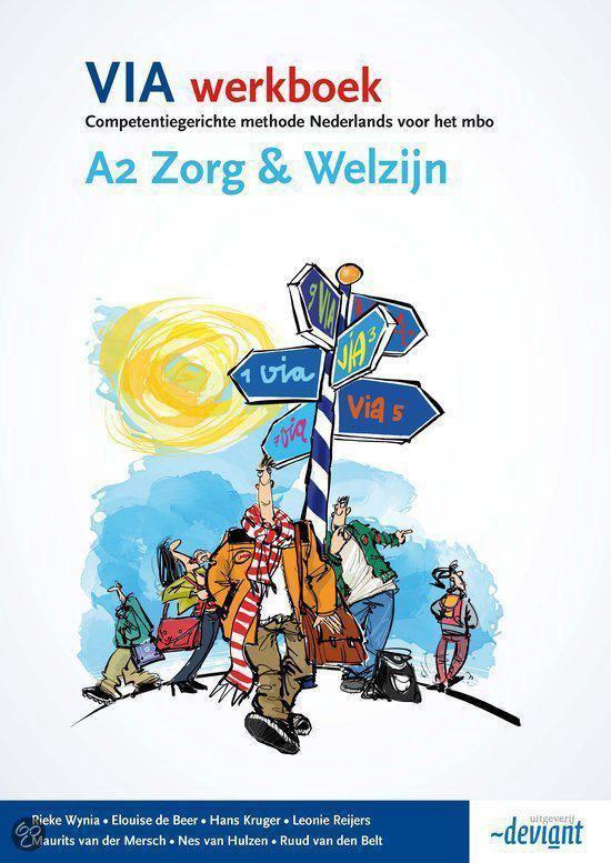 Boek cover VIA Werkboek A2 Zorg & Welzijn van Rieke Wynia (Paperback)