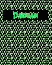 120 Page Handwriting Practice Book with Green Alien Cover Daquan
