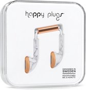 Happy Plugs Earbud - In-ear oortjes - Wit Marmer