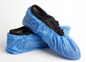 10x sterke blauwe schoenhoesjes - Waterdicht - Universeel pasbaar schoenhoesje - Waterdichte regen overschoenen / overschoen - Schoenhoezen - Schoenovertrek wegwerp - Set schoenen hoesjes