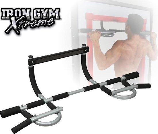 Iron Gym Xtreme Plus Optrekstang Verstelbare deurtrainer - Fitness voor thuis - Pull up stang