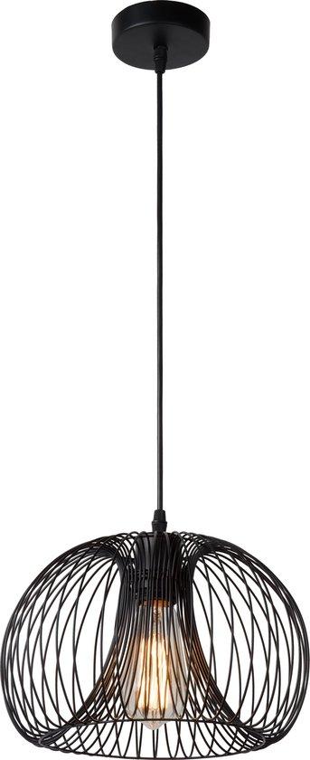 Lucide VINTI - Hanglamp - Ø 30 cm - 1xE27 - Zwart