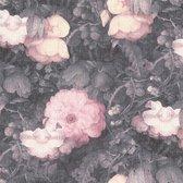Behang Metropolitan stories flowers roze