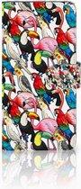 Motorola Moto E5 Plus Wallet Book Case Hoesje Birds