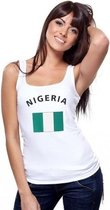 Witte dames tanktop Nigeria M