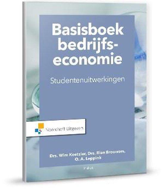 Boek cover Basisboek bedrijfseconomie-studentenuitwerkingen van Rien Brouwers (Paperback)