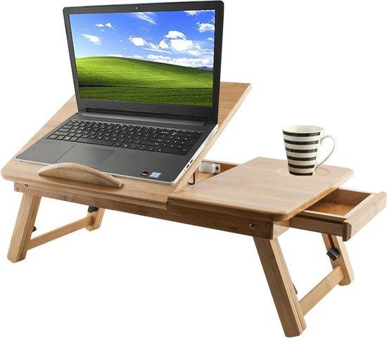 Uitgelezene bol.com   Houten Laptoptafel - Laptop Verhoger Schoottafel DE-05