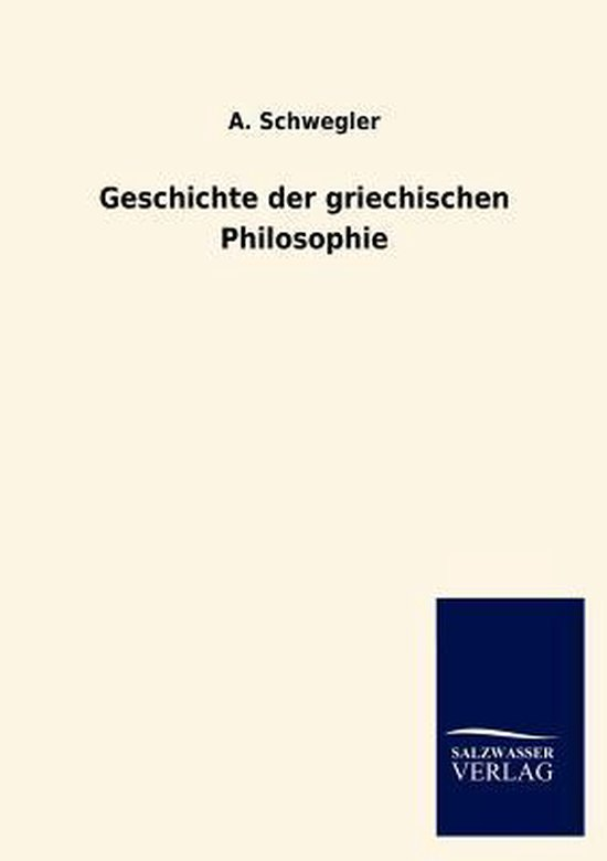 Geschichte der griechischen Philosophie