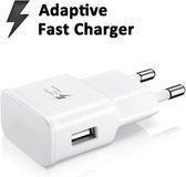 Fast charger geschikt voor Samsung Galaxy S7 / S7 Edge inclusief kabel - 1m - wit