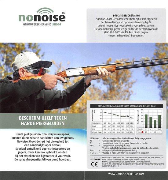 Nonoise - Shoot gehoorbeschermer - Oordoppen - 1 paar - NoNoise