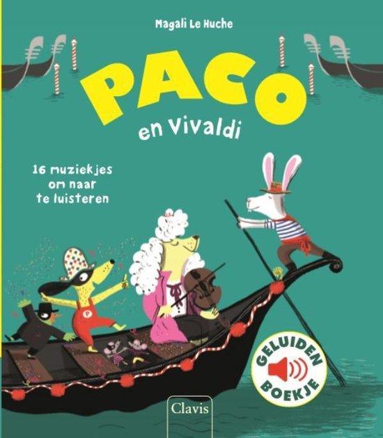 Boek cover Paco en Vivaldi ( geluidenboek) van Magali le Huche (Onbekend)