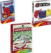 Reisspellen - Monopoly - 4 op een rij - Wie is het