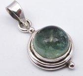 Natuursieraad -  925 sterling zilver groene apatiet - luxe edelsteen sieraad - handgemaakt