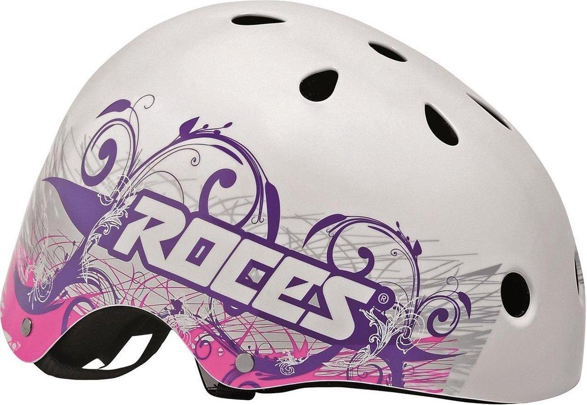 ROCES Helm Dames TATTOO AGGRESSIVE - Wit/Violet 48-52cm (S)