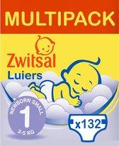 Zwitsal Luiers - New Born Maat 1 - 132 stuks - Voordeelverpakking