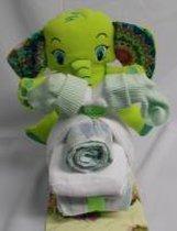 Brommer klein olifant groen