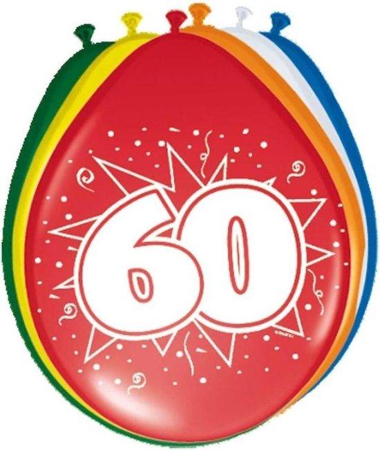 16x stuks  Ballonnen versiering 60 jaar