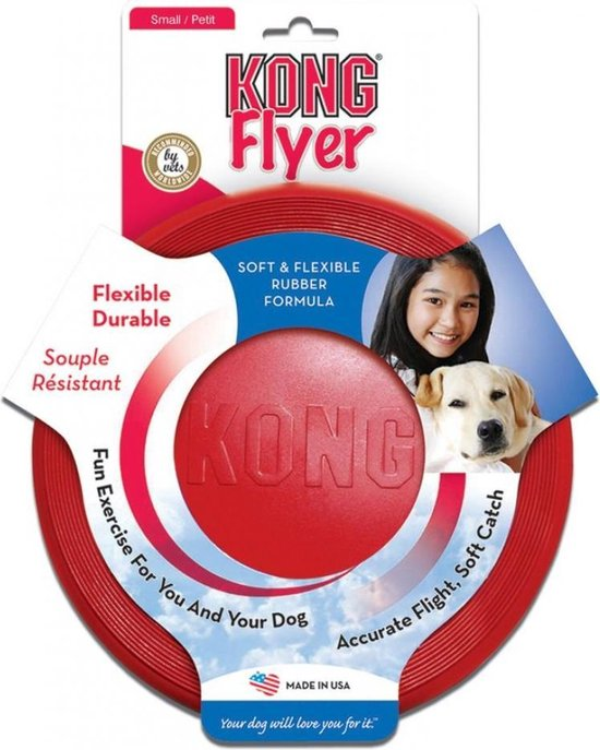 KONG - Flyer Frisbee - Hondenspeelgoed - Rood - Ø25 cm
