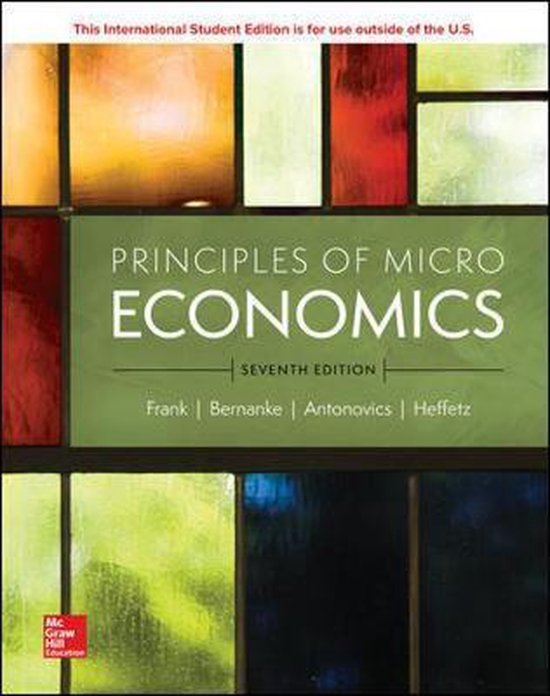 Boek cover ISE Principles of Microeconomics van Robert Frank