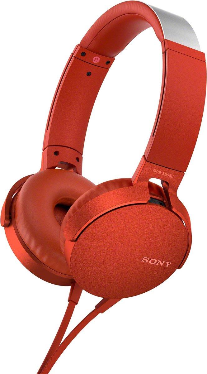 Sony MDR-XB550AP – On-ear koptelefoon – Rood