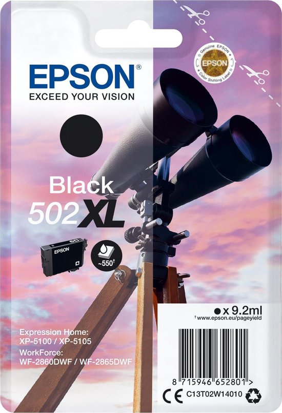 Epson 502XL - Inktcartridge / Zwart