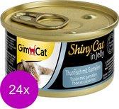 Shinycat Tonijn/Garn Kattenvoer - 70 gr - 24 stuks