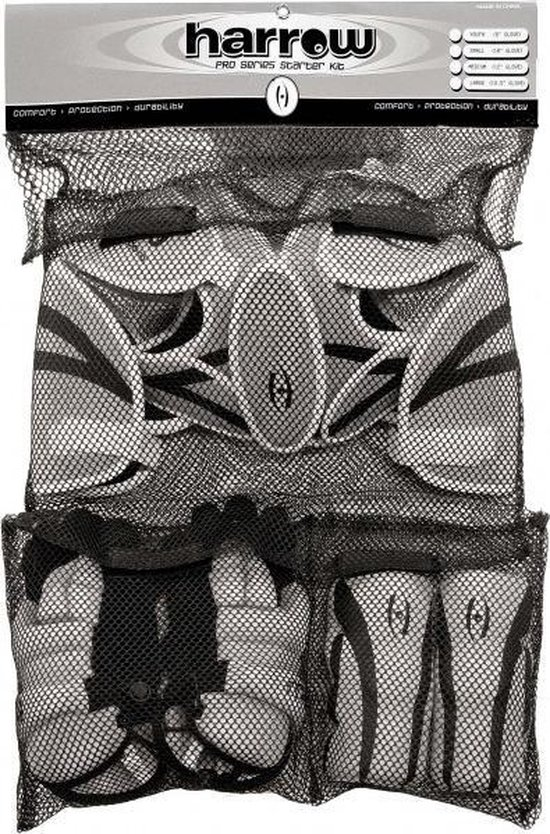 Harrow Lacrosse Protective Starterkit - Medium - Grey/Black