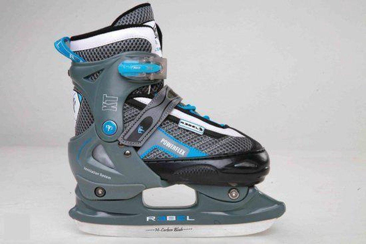 Rebel Snowstar ijshockeyschaatsen verstelbaar blauw maat 34-37