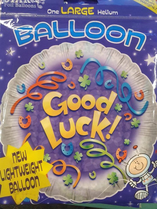 Ballon Good Luck, 45cm Star