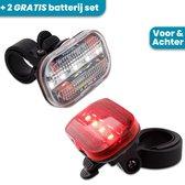 Fietsverlichting Set LED - Voor En Achter - Inclusief Batterij Set - Fietslampjes