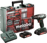 Metabo BS 18 - Accuboormachine- 18V - incl. 2 li-ion (2,0 Ah) accu-packs, lader en toebehorenset