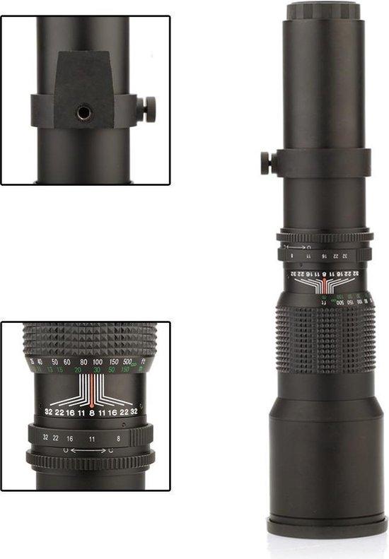 Lightdow 500mm F8.0-16 super telelens zoomlens voor Canon EOS EF body's