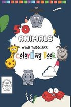 50 Animals for Toddler Coloring Book